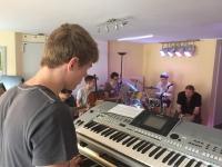 Unsere Band bei den Proben