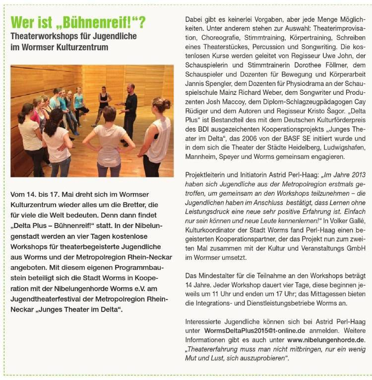 WO-Stadtmagazin Maiausgabe